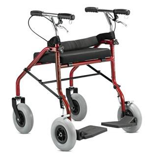 Andador 4 Rodas com Assento e apoio para Pés