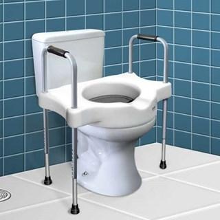 Barra de Apoio e Assento Elevado para Vaso Sanitário - Sit V
