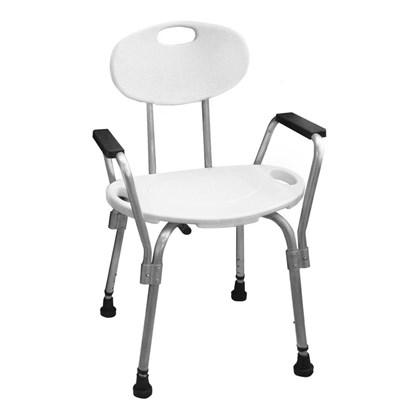 Cadeira de Banho  com Encosto e Braço Mebuki