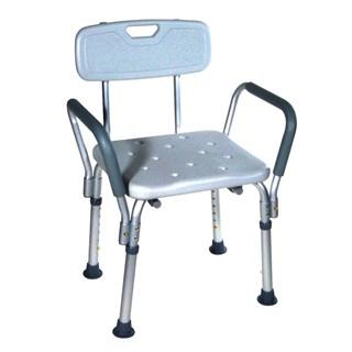 Cadeira de Banho com Encosto e Braço Mobil