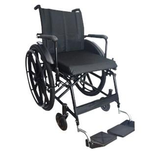 Cadeira de Rodas dobrável Pneu Inflável - Almofadada