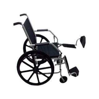 Cadeira de Rodas Pneu Maciço - Com Elevação dos Pés