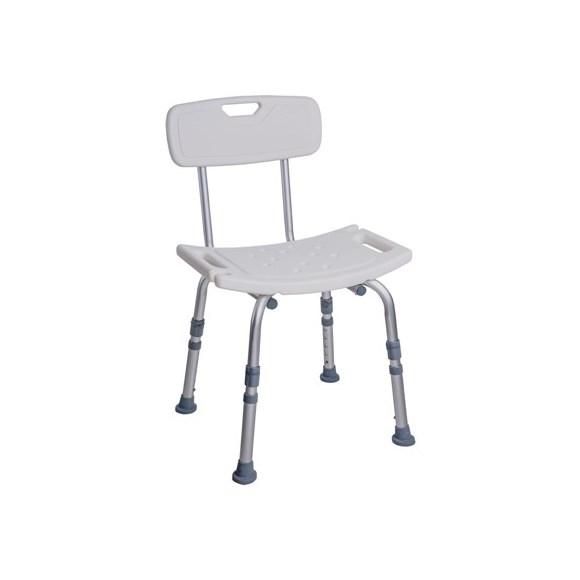Cadeira Retangular com Encosto para Banho