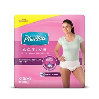 Fralda de Vestir Plenitude Active Feminina Com 8 Und