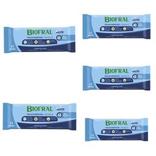 Kit Toalhas Umedecidas Biofral Com 5 Pacotes
